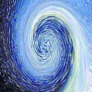 Water Twirl Blue Art Print