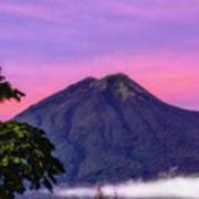 Water Volcano, Guatemala Art Print