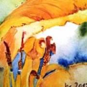 Watercolor .... Tulip Interiors Art Print