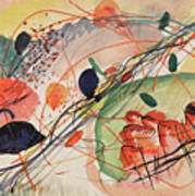 Watercolor 6 Wassily Kandinsky, 1911 Art Print