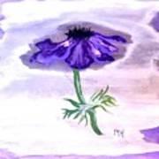 Watercolor Anomone Art Print