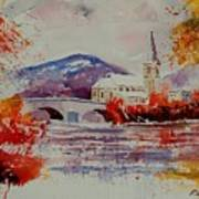 Watercolor Anseremme Art Print