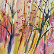 Watercolor - Autumn Forest Impression Art Print