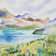 Watercolor - Colorado Alpine Landscape Art Print