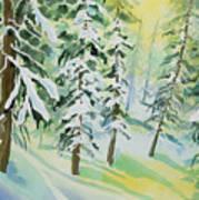 Watercolor - Colorado Winter Tranquility Art Print