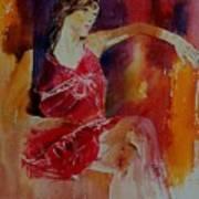 Watercolor Eglantine 1 Art Print