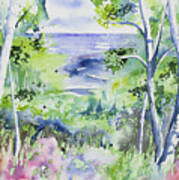 Watercolor - Lake Superior Impression Art Print