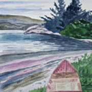 Watercolor - New Zealand Harbor Art Print