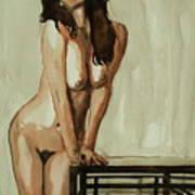 Watercolor Nude 1 Art Print