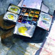 Watercolor Pallet Art Print