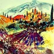 Watercolor  Provence 07 Art Print