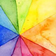 Watercolor Rainbow Beachball Pattern Art Print