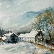 Watercolor Sechery 1207 Print by Pol Ledent