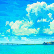 Watercolor Spring On Sarasota Bay Art Print