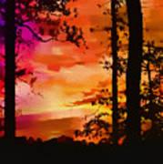 Watercolor Sunrise Art Print