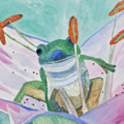 Watercolor - Tree Frog Art Print
