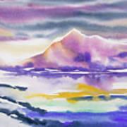 Watercolor - Winter Arctic Impression Art Print