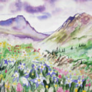 Watercolor - Yankee Boy Basin Landscape Art Print