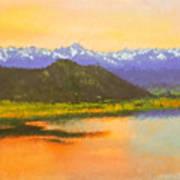 Watercolored Sunset Art Print