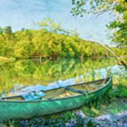 Watercolors At The Lake Art Print