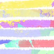 Watercolour Abstract Strips Art Print