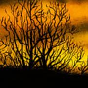 Watercolour Sunset Art Print