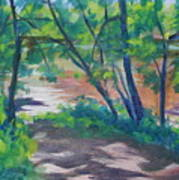 Watercress Beach On The Current River   Art Print