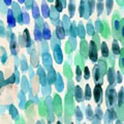 Waterfall 2- Abstract Art By Linda Woods Art Print