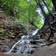 Waterfall And Natural Gas Art Print