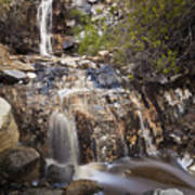 Waterfall At La Jolla Canyon Art Print