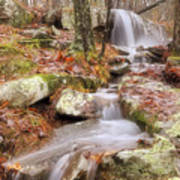 Waterfall Atop Petit Jean Mountain - Arkansas - Nature Art Print