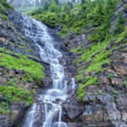 Waterfall Below The Garden Wall Art Print