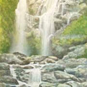 Waterfall Art Print by Charles Hetenyi