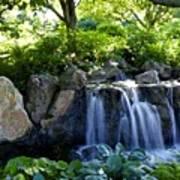 Waterfall Garden Art Print