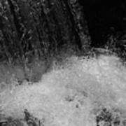 Waterfall In Black And White Art Print