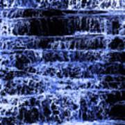 Waterfall In Blue Art Print