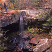 Waterfall In Fall - 1 Art Print