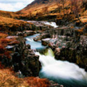Waterfall In Glencoe Art Print
