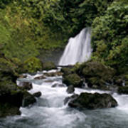 Waterfall In La Fortuna Art Print