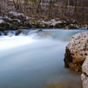 Waterfall In Slovenian Alps Art Print