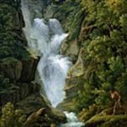 Waterfall In The Bern Highlands Art Print