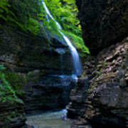 Waterfall In The Gorge Art Print by Mike Horvath
