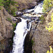Waterfall In Yellowstone Art Print