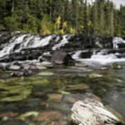 Waterfall Mcdonald Creek Art Print