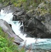 Waterfall Of Paradise Art Print