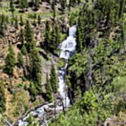 Waterfall On Lava Creek 2 Art Print