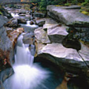Waterfall On The Ammonoosuc River  Art Print