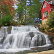 Waterfall Painting Art Print