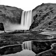 Waterfall Reflections Art Print