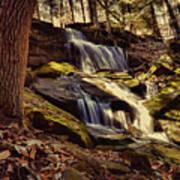 Waterfall Through The Trees Art Print